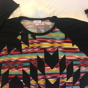 LuLaRoe Tops - LuLaRoe Aztec Print Randy - Size Medium